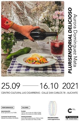 """La exposición """"Plurisensorial Delicioso"""", de Aurora Domínguez, releva a la muestra sobre la basura espacial en Las Cigarreras"""