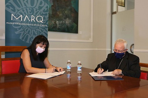El MARQ y el Obispado firman un convenio de colaboración para desarrollar un espacio museográfico en Orihuela