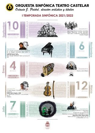 La Orquesta Sinfónica Teatro Castelar de Elda arranca el viernes su primera temporada de conciertos con una selección de 'Clásicos Populares'