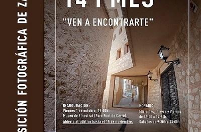 "El Museu de Finestrat acogerá la exposición fotográfica ""14 i més. Ven a encontrarte"" de Patricia Pérez ""Zacha"""