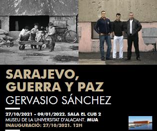 El periodista y Premio Nacional de Fotografía Gervasio Sánchez inaugura en el MUA su exposición «Sarajevo, guerra y paz»