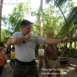 Philippine fun divers alona beach panglao bohol adventure trip loboc river ate tribe holger horn bow and arrow training