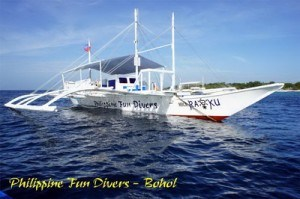 Bohol fun Divers Dive Boat