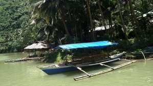 Floating restaurant loboc riverwatch bohol along the river