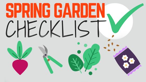 Spring Garden Checklist [Infographic]