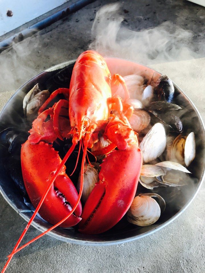 Lobster and steamers!