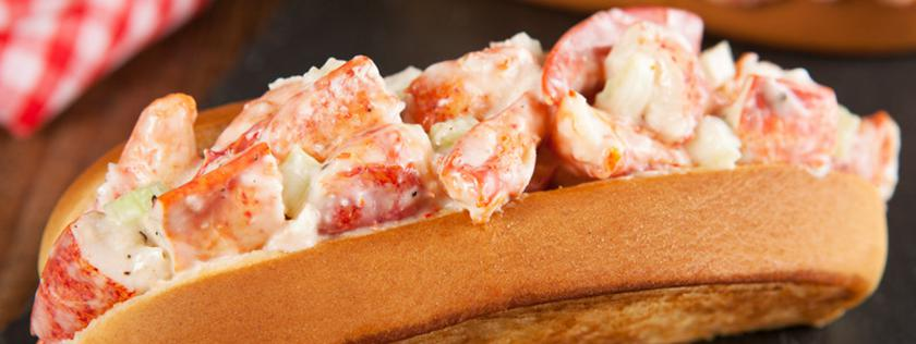 Jumbo Maine Lobster Roll on New England bun