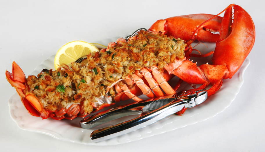 Perfectly Prepared Maine Baked Stuffed Lobster