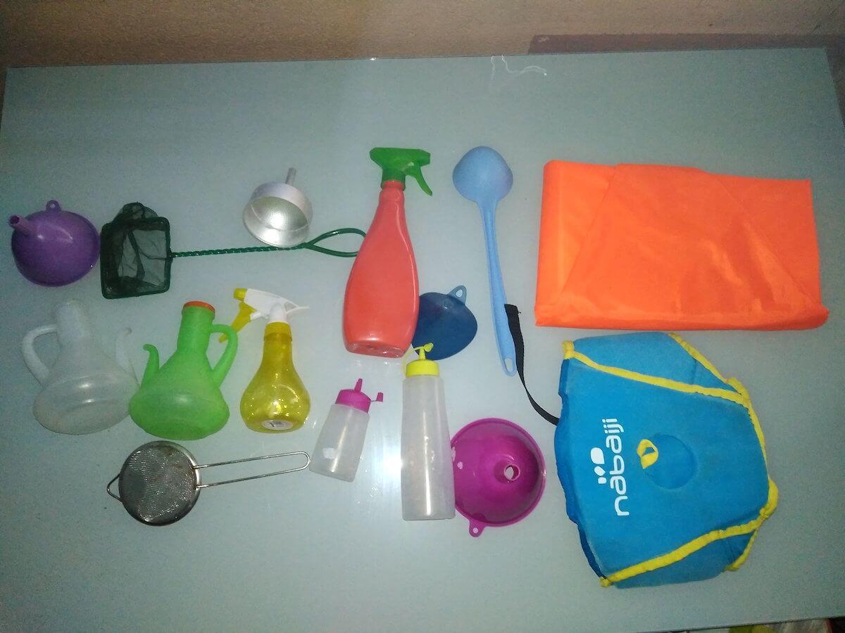 utensilios para jugar en la playa
