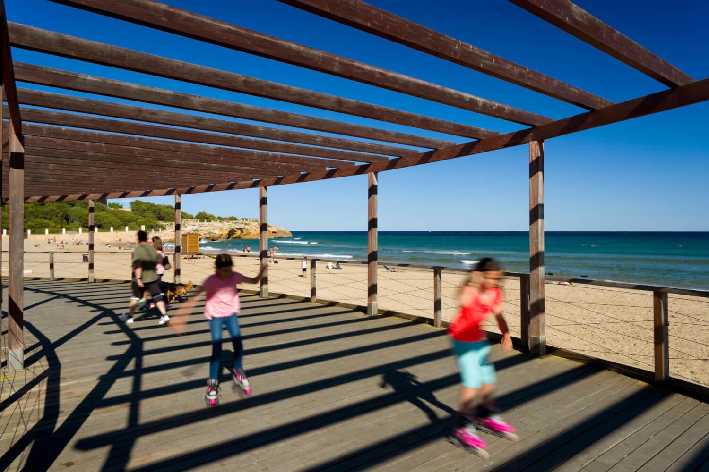 Tarragona, Tarragonés. Playa de la Arrabassada. Platja de la Arrabassada.