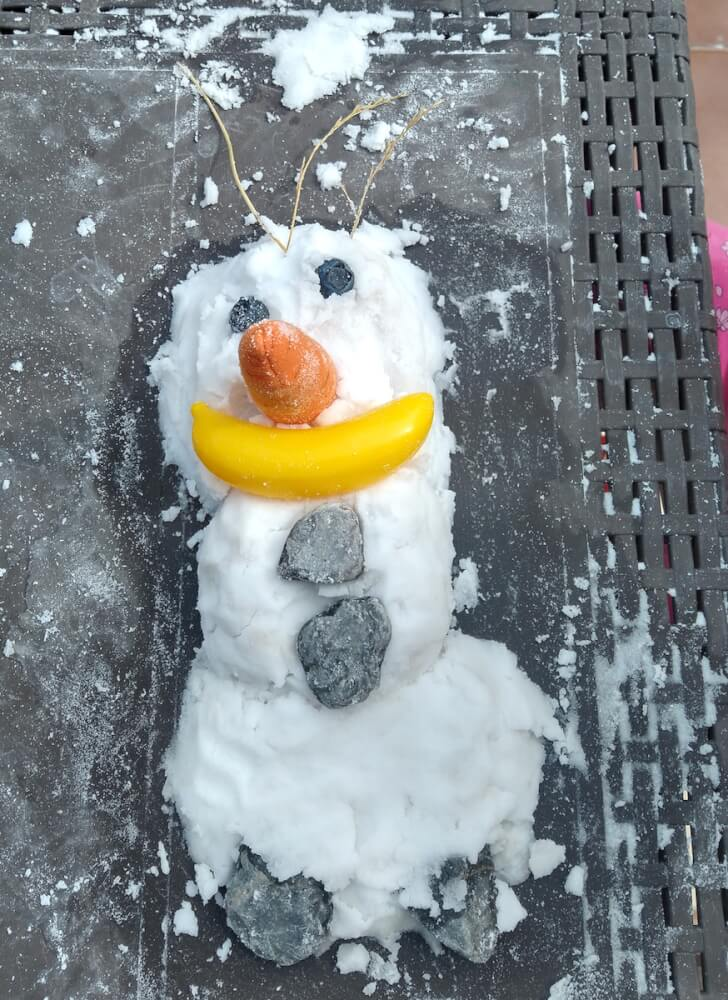 nieve artificial olaf