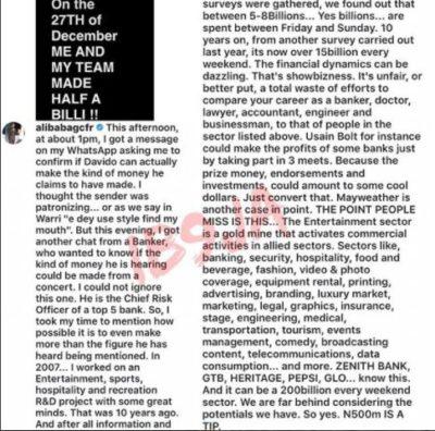 Alibaba Reveals Davido's 500 Million Naira Is A Tip