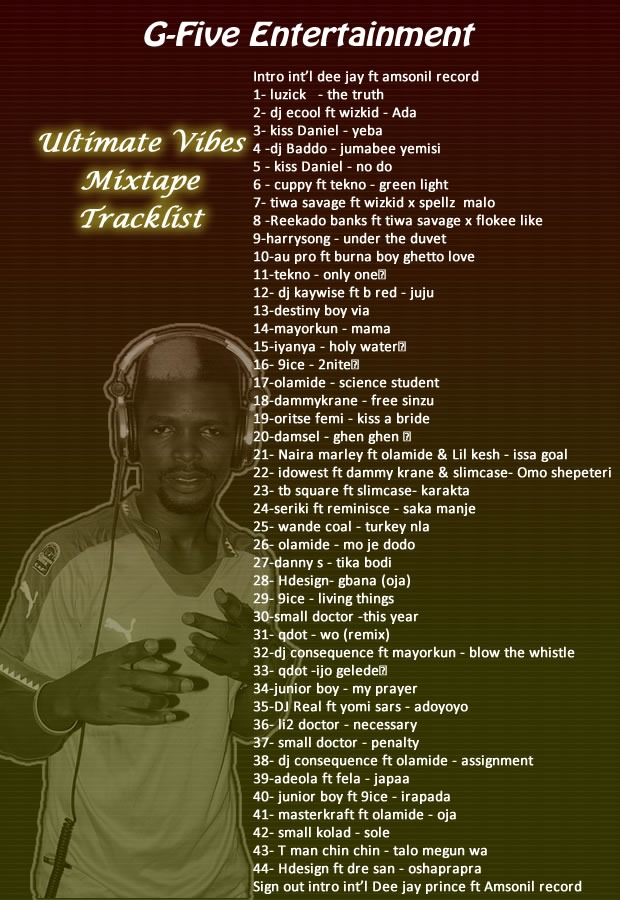 Int'l Dee Jay Prince - Ultimate Vibes Mixtape