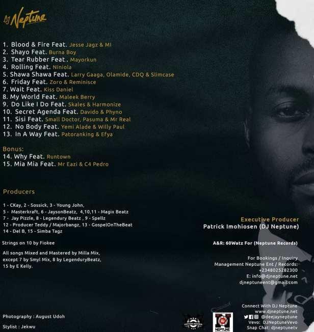 DJ Neptune - GREATNESS Track List