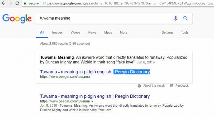 Tuwama meaning