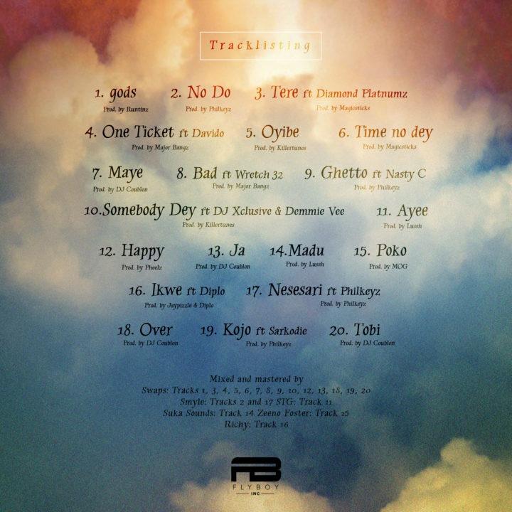 "Kizz Daniel ""No Bad Songz"" Tracklist"