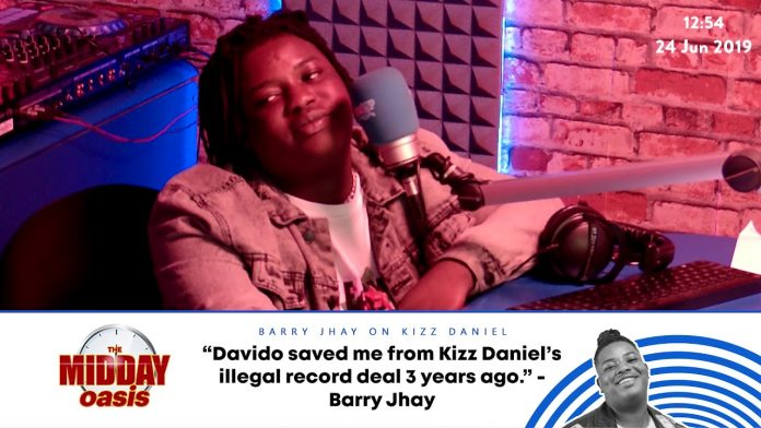 Davido Saved Me From Kizz Daniel's Fake Record Deal – Barry Jhay