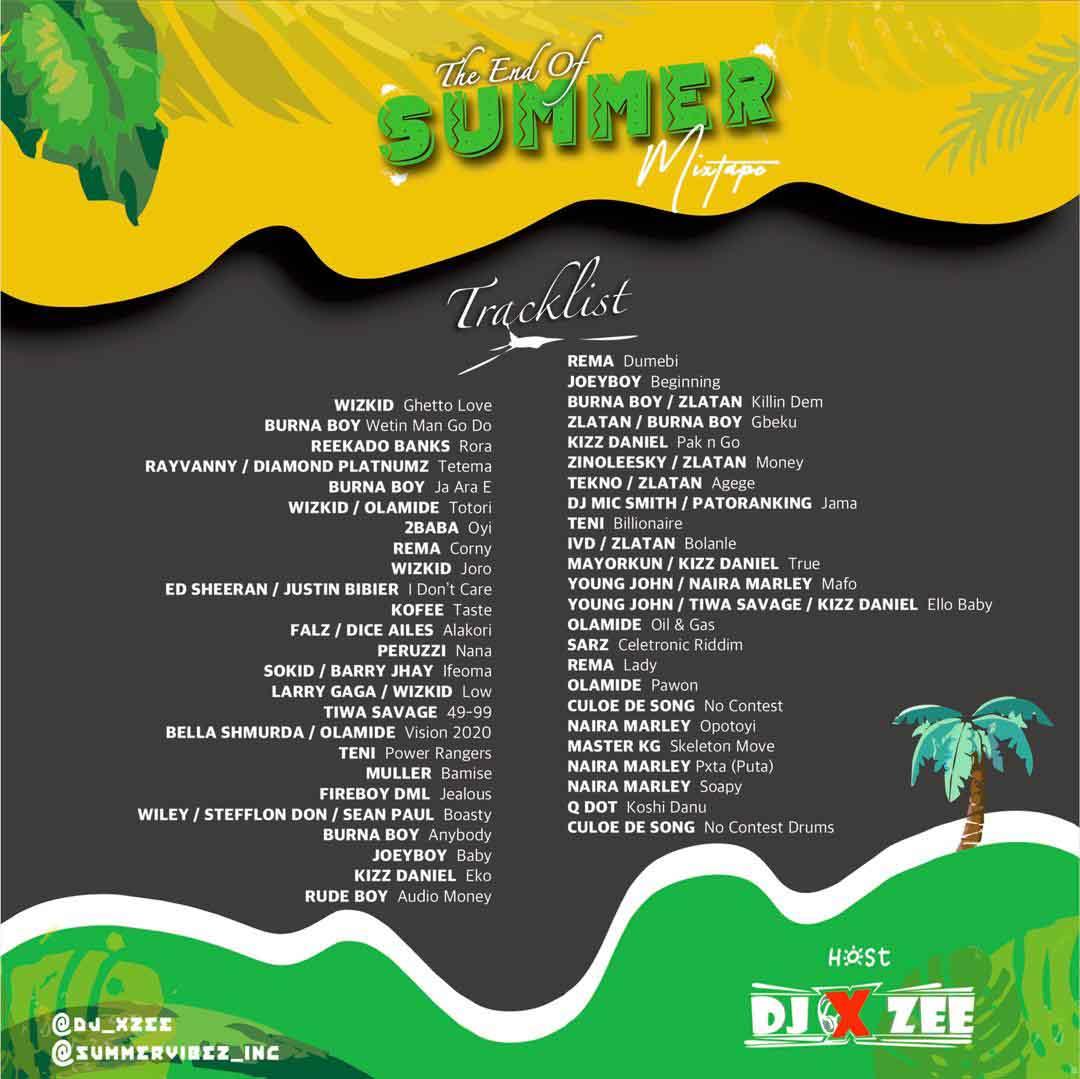 DJ Xzee – The End Of Summer Mixtape