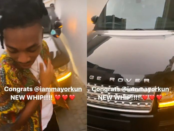 Mayorkun buys Range-rover