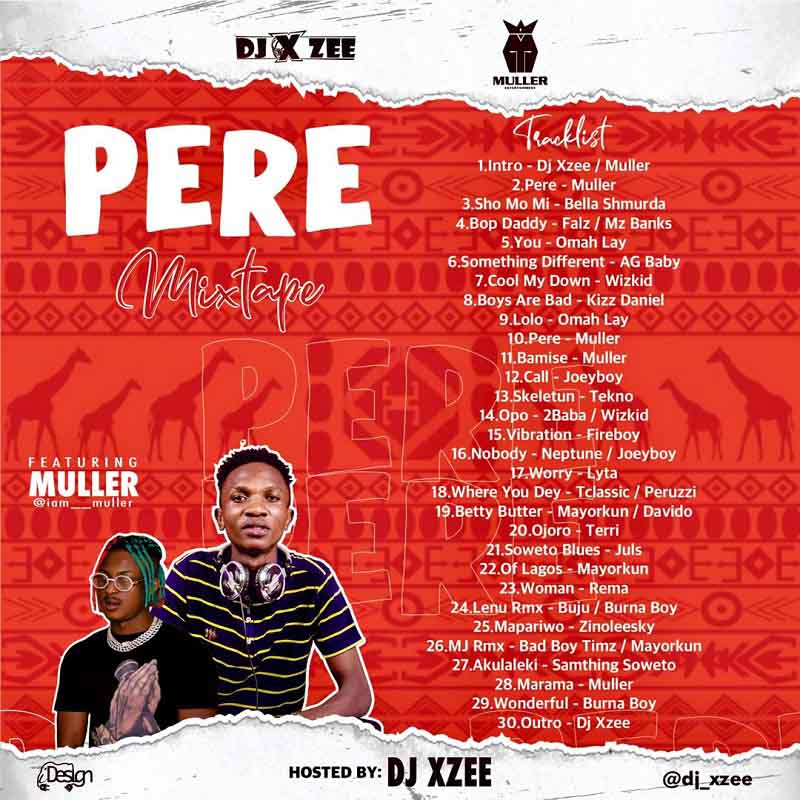 DJ Xzee - Pere ft Muller (Tracklist)