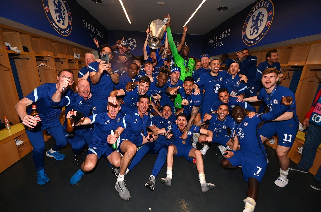 Chelsea Players Celebrates Their Champions League Victory