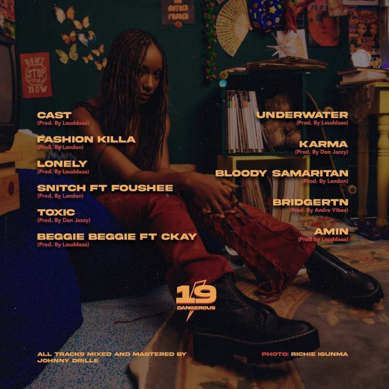 "Ayra Starr – ""19 & Dangerous"" Album Tracklist"