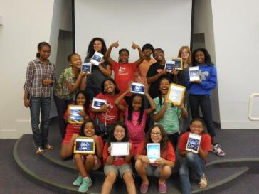 Some of the Girls at Made to Code from Tarrant County