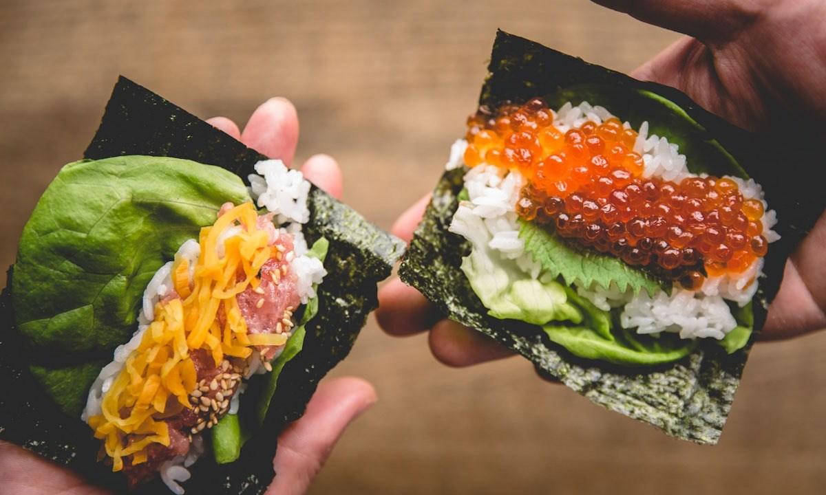 手巻き寿司のメニュー