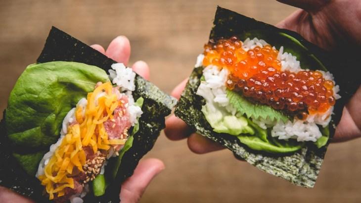 原宿の海苔手巻き寿司