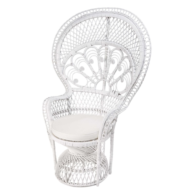 fauteuil emmanuelle en rotin blanc