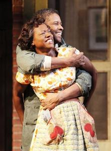 "Broaday.com Denzel Washington and Viola Davis in the 2010 stage production of ""Fences""."
