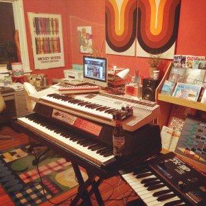 Home recording studio Courtesy of Jennifer Baron