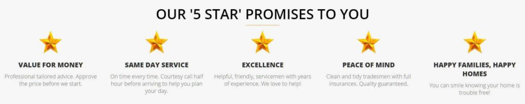 Localad Services 5 Star Promises Banner