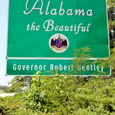 Alabama State Sign / What to See in Alabama.