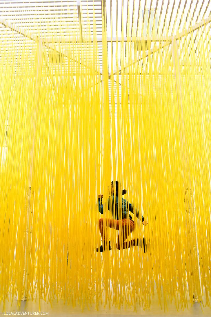 Jesús Rafael Soto's Penetrable LACMA (Los Angeles County Museum of Art).