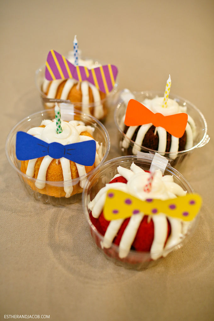Themed party with things starting with the letter B: bowties, beer, bundt cakes, and birthday! Love a good theme party!