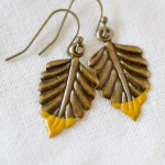 Refugee Beads Hand-dipped Leaf Earrings | June Giveaway!