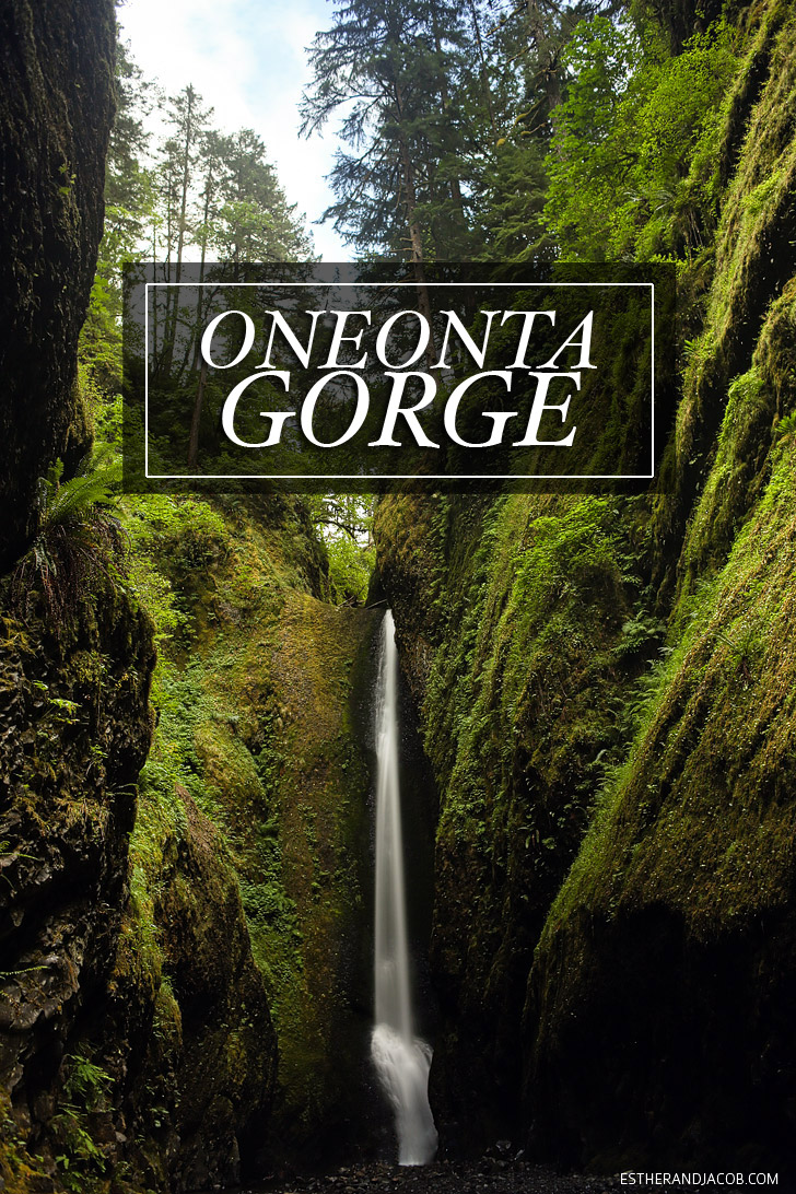 The Oneonta Gorge Hike | Waterfall Hikes in Oregon.