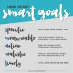 Smart Goal Setting: New City / New Mindset!