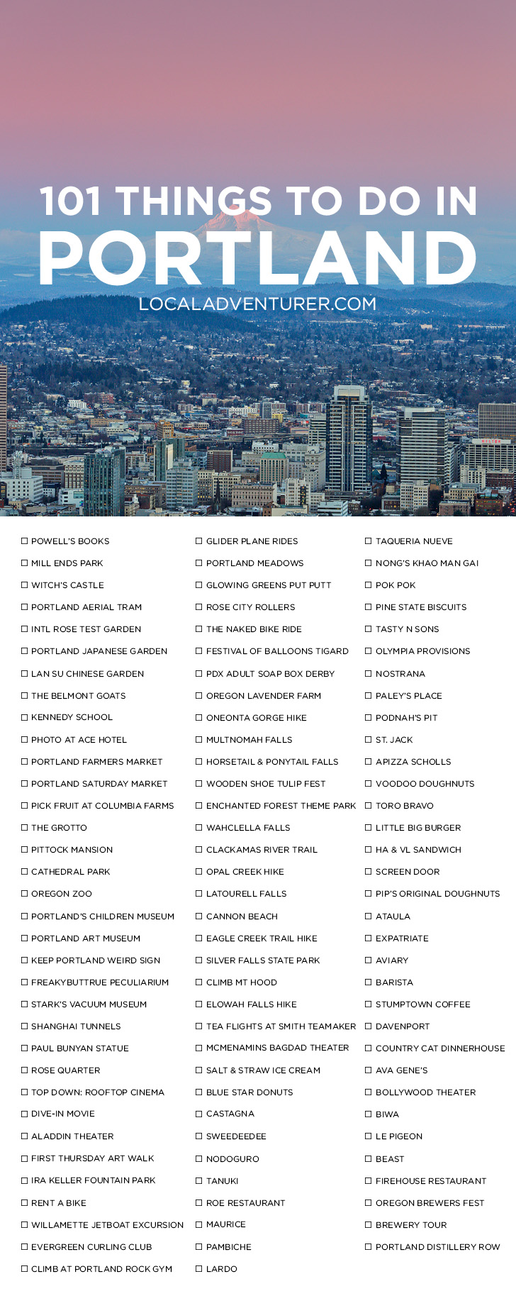 Ultimate Portland Bucket List 101 Things To Do In