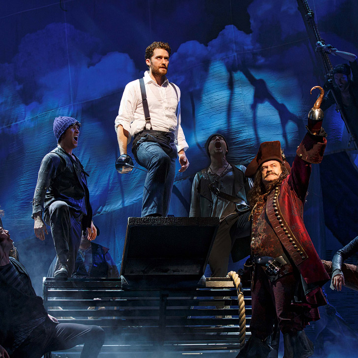 The Finding Neverland Musical at the Lunt-Fontanne Theatre.