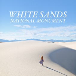 Sand Sledding at White Sands National Monument