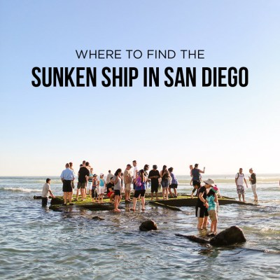 Where to Find the Sunken Ship in San Diego - Recent storms have uncovered a sunken ship on the beach // localadventurer.com