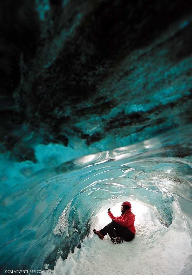 Skaftafell Ice Cave in Iceland is part of the Vatnajökull Glacier // localadventurer.com