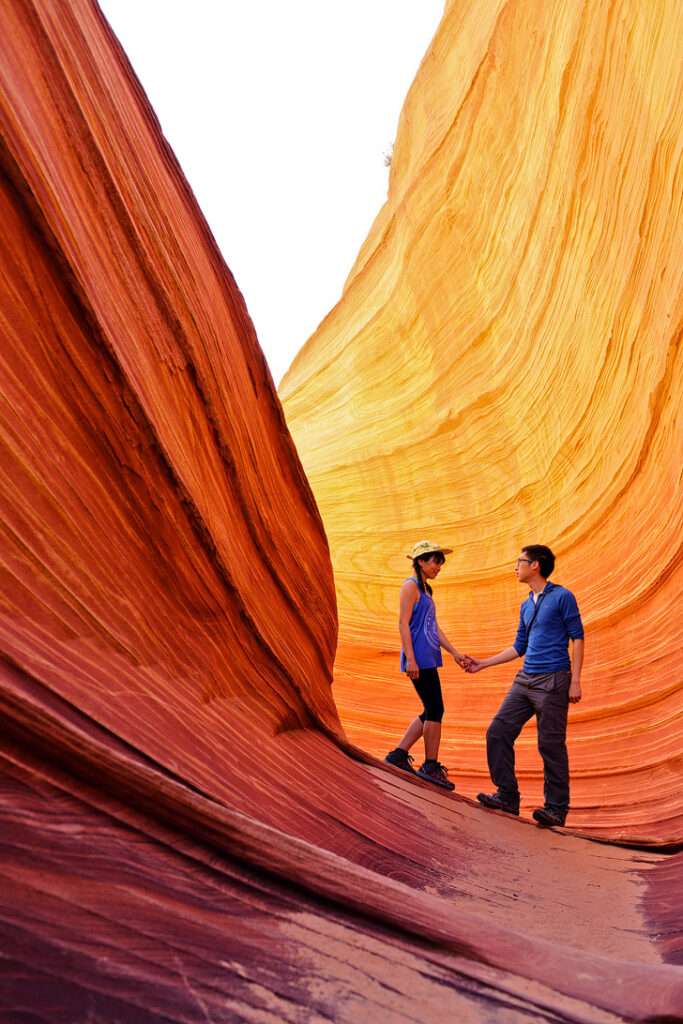 The Wave AZ - a sandstone rock formation popular among hikers and photographers. They only allow 20 people in per day and it's by lottery // localadventurer.com