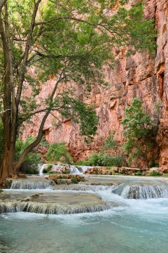 Havasupai Camping - there are small falls all over the Havasupai Indian Reservation that you can even camp right next to // localadventurer.com