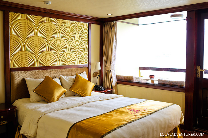 Our Stay on the Golden Cruise Halong Bay Vietnam - a UNESCO World Heritage Site // localadventurer.com