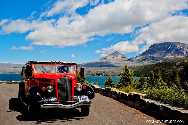 Classic Red Bus Tours at Glacier National Park (+ 9 Incredible Things to Do at Glacier National Park) // localadventurer.com