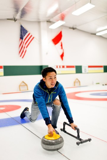 Checked off the bucket list! Curling lessons at the Evergreen Curling Club in Portland // localadventurer.com