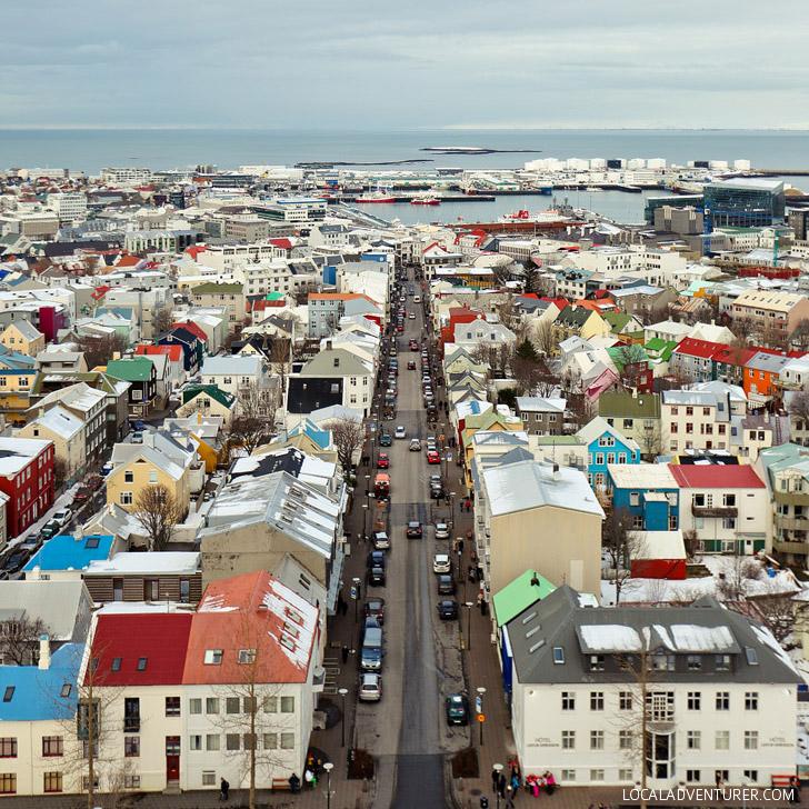 Beautiful Aerial Shot of Reykjavik Iceland from the Hallgrimskirkja Church // localadventurer.com